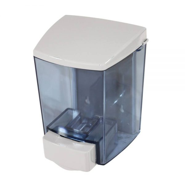 Plastic Soap Dispenser 30 oz. Push White